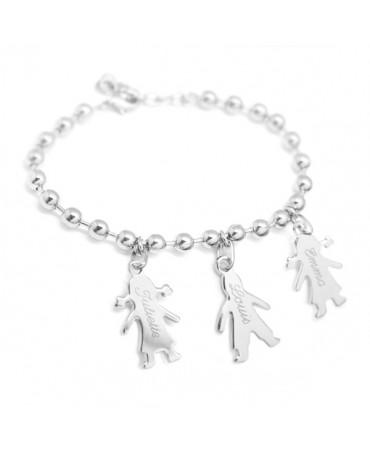Bracelet chaîne Chérubin argent - Petits Trésors