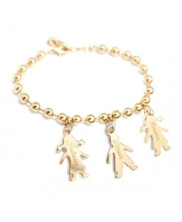 Bracelet chaîne Chérubin plaqué or - Petits Trésors