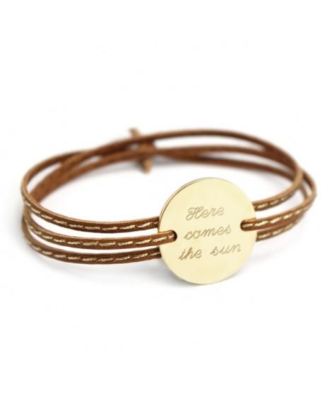 Petits trésors : bracelet amazone family plaqué or
