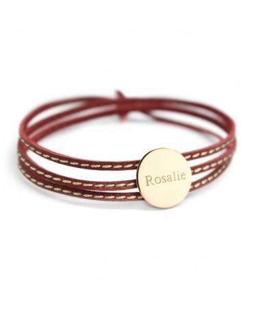 Petits trésors : bracelet amazone médaille plaqué or