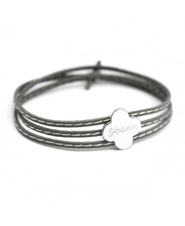Petits trésors : bracelet amazone trèfle argent