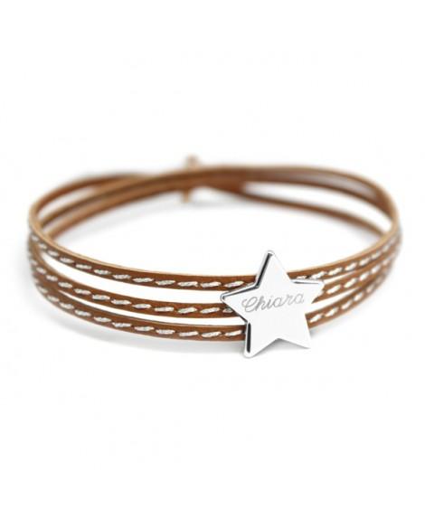 Petits trésors : bracelet amazone étoile argent