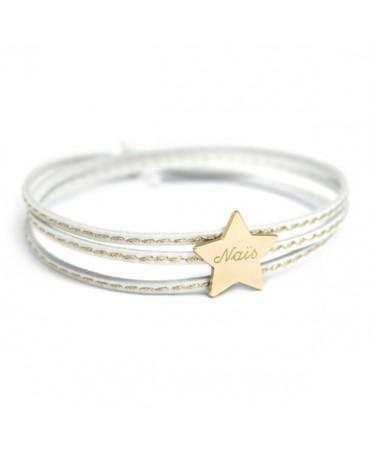 Petits trésors : bracelet amazone étoile plaqué or