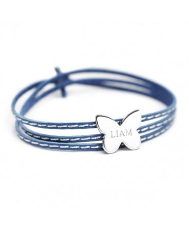 Petits trésors : bracelet amazone papillon argent