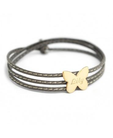 Petits trésors : bracelet amazone papillon plaqué or