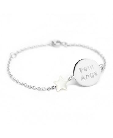 Petits Trésors : bracelet Lovely nacre star argent