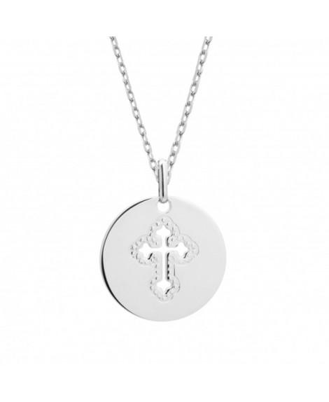 Petits trésors : pendentif croix céleste argent