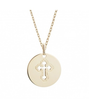 Petits trésors : pendentif croix céleste en plaqué or