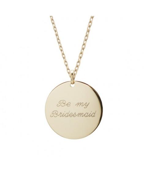 Petits trésors : pendentif message d'amour plaqué or