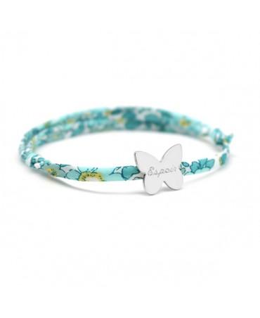 Bracelet Liberty cordon papillon argent