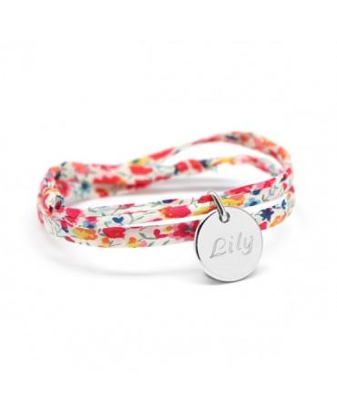 Bracelet Liberty cordon kids médaille argent