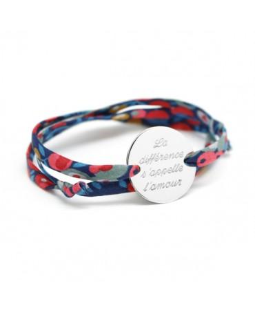 Bracelet Liberty cordon family argent