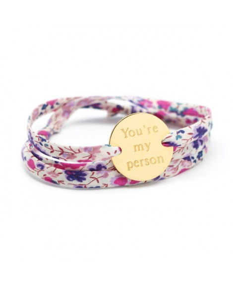 Bracelet Liberty cordon family plaqué or
