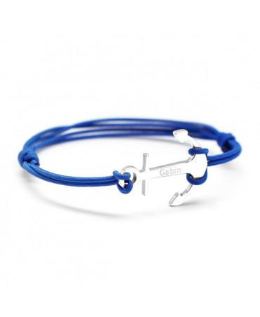 Bracelet ancre marine argent - Petits Trésors