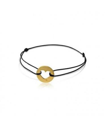 Bracelet coeur or jaune - AUGIS
