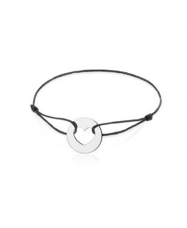 Bracelet coeur or blanc - AUGIS