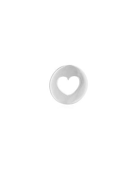 Pendentif cœur or blanc - AUGIS