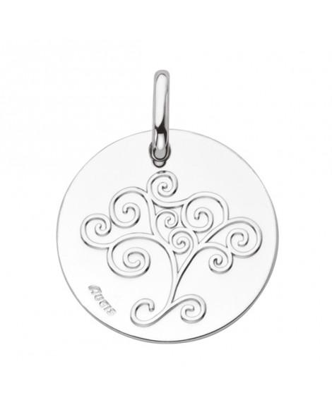 Médaille Arbre de Vie or blanc - AUGIS