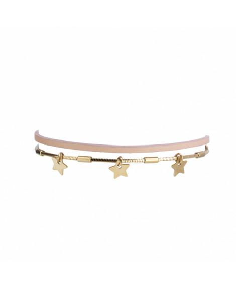 Bracelet enfant cuir étoiles Dormeur - FlowersForZoé