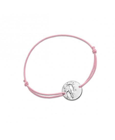 Bracelet bébé fille Premiers pas sur Terre argent - Monnaie de Paris