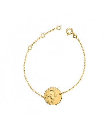 Bracelet bébé chaîne Premiers pas sur Terre (or jaune) - Monnaie de Paris