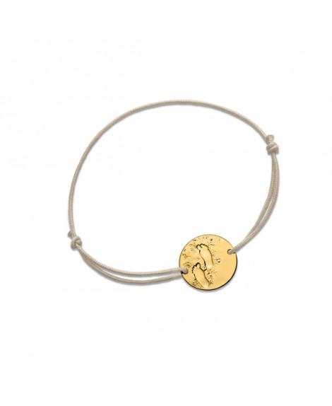Bracelet bébé cordon Premiers pas sur Terre (or jaune) - Monnaie de Paris