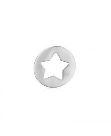 Pendentif étoile or blanc - AUGIS