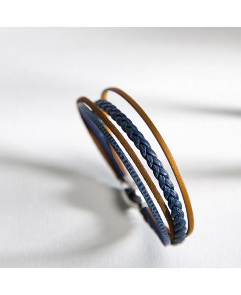 Bracelet cuir homme Gaspard - FlowersForZoé