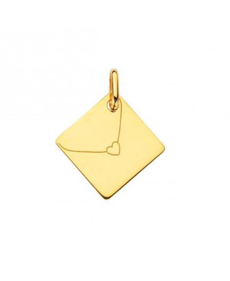 Pendentif enveloppe or jaune - Augis