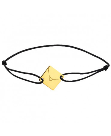 Bracelet cordon enveloppe or jaune - Augis