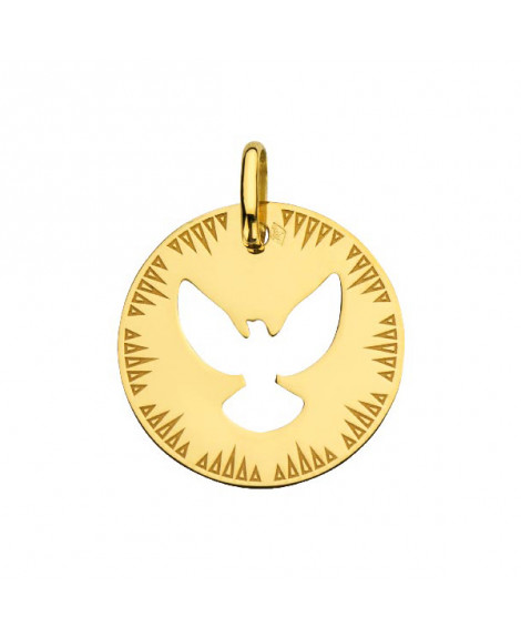 Médaille Colombe ajourée or jaune - AUGIS