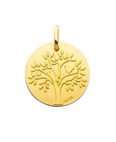 Médaille arbre de vie oiseau or jaune - AUGIS