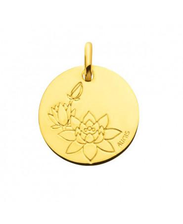 Médaille fleur de lotus or jaune - AUGIS