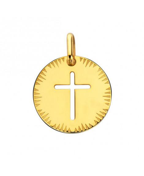 Médaille croix ajourée or jaune - Augis