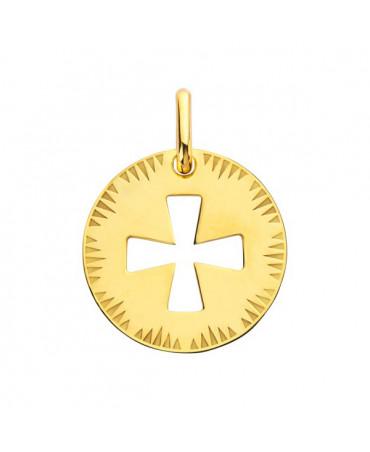 Médaille Croix de Malte ajourée or jaune - Augis