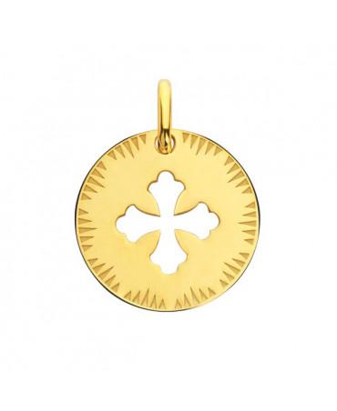 Médaille Croix Occitane ajourée or jaune - Augis