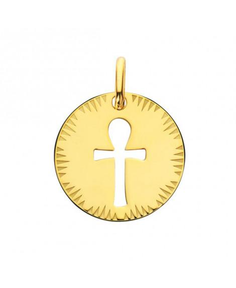 Médaille Croix de Vie ajourée or jaune - Augis