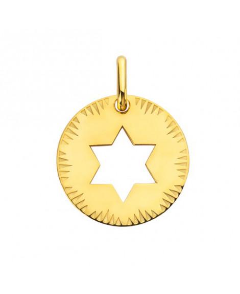 Médaille Etoile de David or jaune - Augis