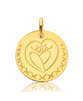Médaille Love Bird or jaune - Augis