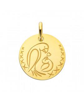 Médaille femme bébé Love Bird or jaune - Augis