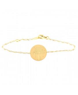 Bracelet bébé arbre aux cœurs or jaune - AUGIS