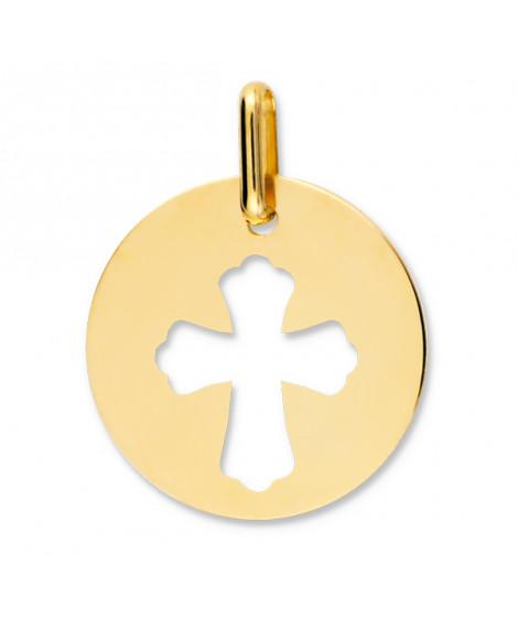 Médaille Croix Ajourée or jaune 9k ou 18k - Lucas Lucor