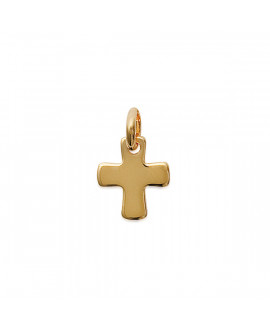 Pendentif Croix plaqué or jaune