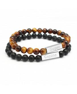 Duo de bracelets pierres naturelles femme - Petits Trésors