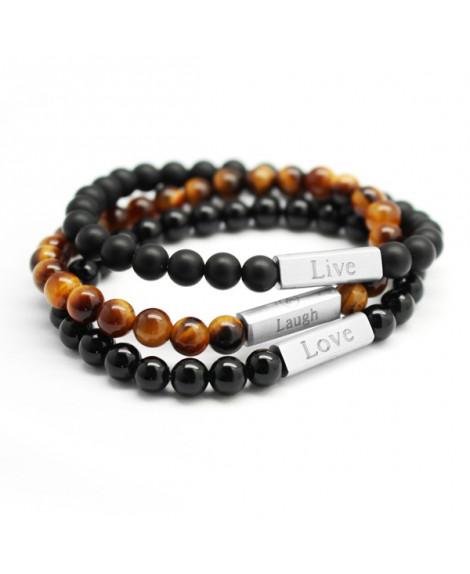 Trio de bracelets pierres naturelles femme- Petit Trésors