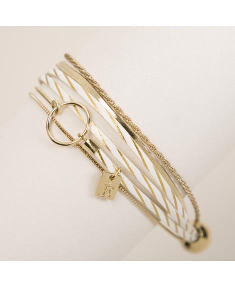 Bracelet cuir femme Nolita - Flowers For Zoé