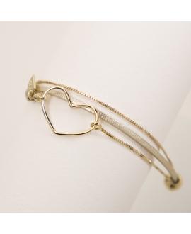 Bracelet cœur Amoureux - Flowers For Zoé