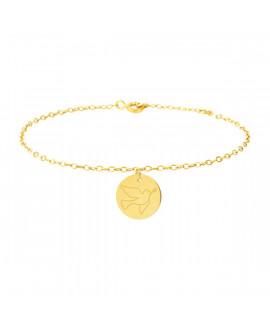 Bracelet colombe femme or jaune 18K - Lucas Lucor