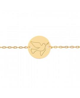 Bracelet colombe enfant or jaune 18K - Lucas Lucor