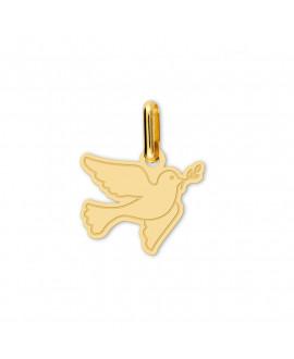 Pendentif colombe découpée or jaune 18 K